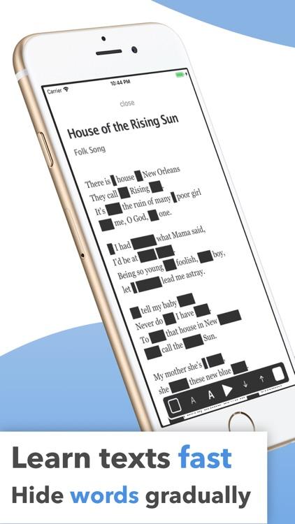 Memy – Memorize texts, lyrics screenshot-0