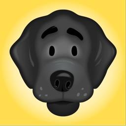 Black Labrador Stickers
