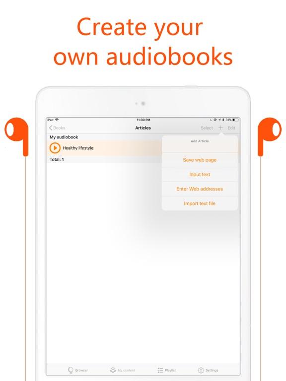 AirRead - Reads aloud text Screenshots