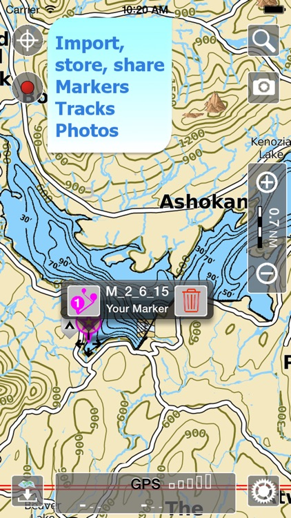 Aqua Map New York Lakes GPS HD screenshot-3