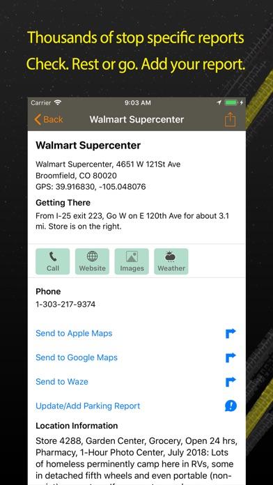 Walmart Overnight Parking review screenshots