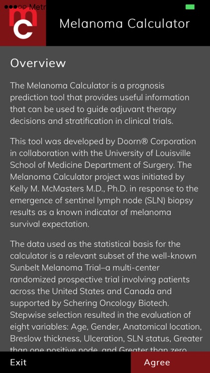 Melanoma Calculator