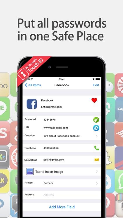 Lock Password Manager safe App
