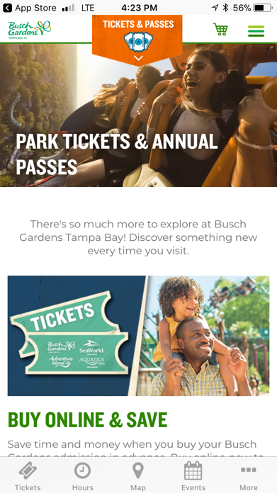 Busch Gardens Discovery Guide Screenshot