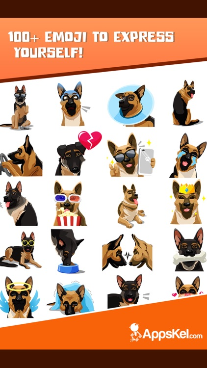 German Shepherd Emoji Sticker screenshot-3