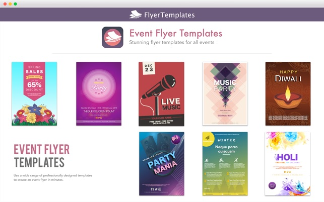flyer templates design by ca をmac app storeで