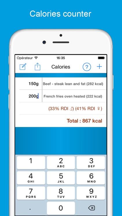Calories counter & calculator