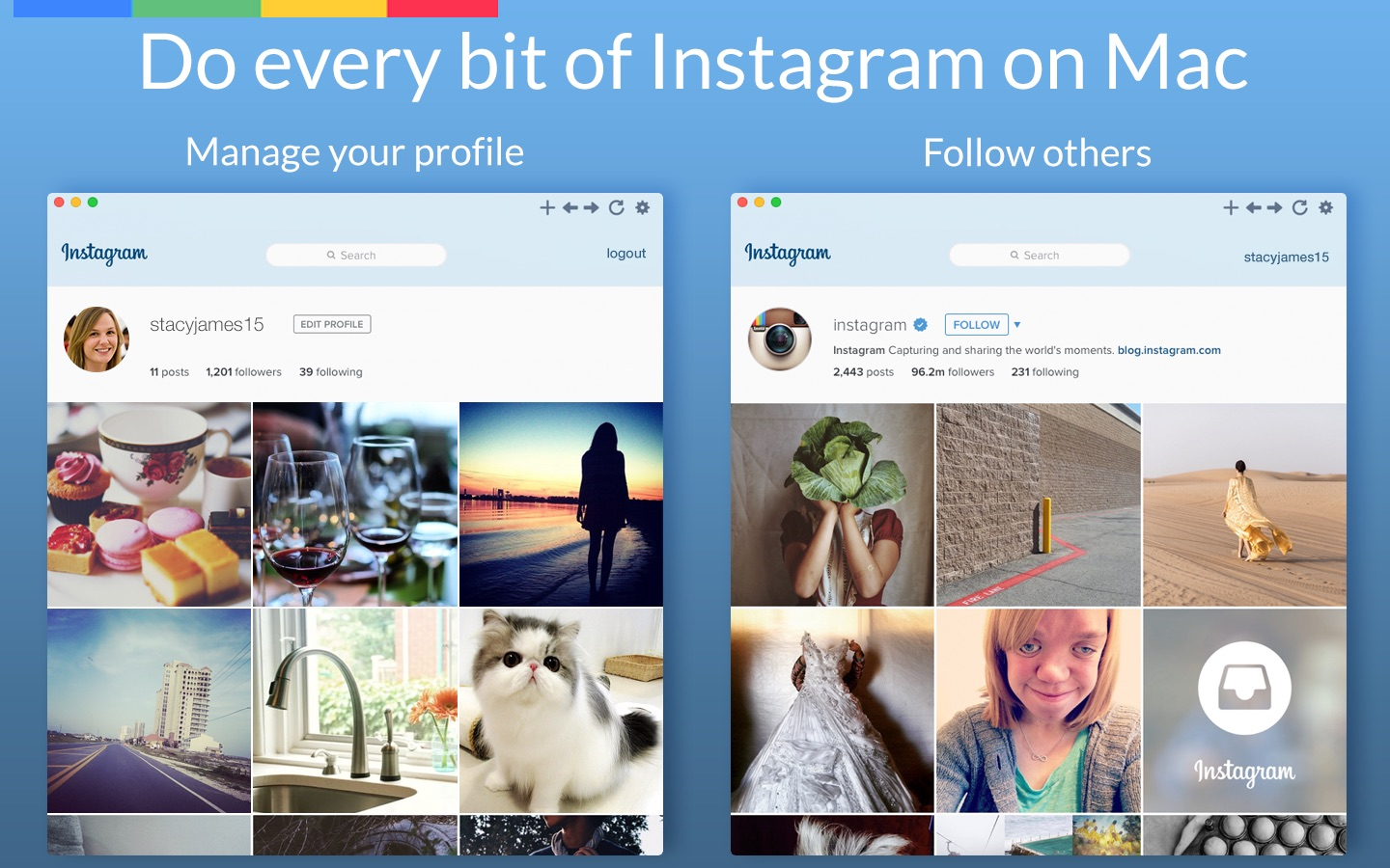 ‎MenuPro for Instagram on the Mac App Store