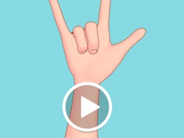 Express your feelings with simple cartoony animated hand sign stickers