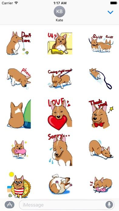 Lovely Welsh Corgi Dog Sticker screenshot 2