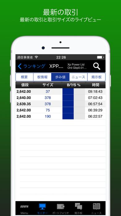 ADVFNリアルタイム株式とBitcoin ScreenShot4