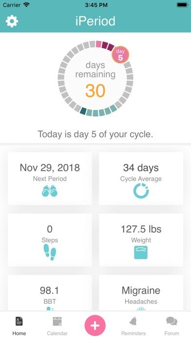 iPeriod Period Tracker + screenshot one