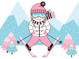 Ski & Skateboard Winter Sports
