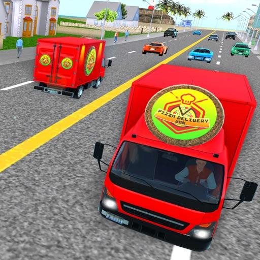 City Pizza Cargo Delivery Boy