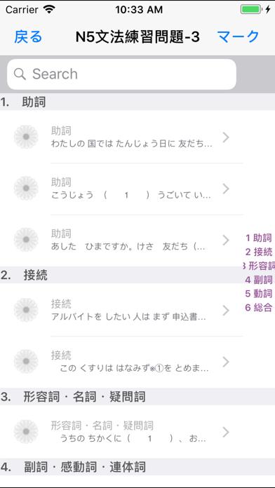 新しい「日本語能力試験」N5文法問題集 screenshot 6