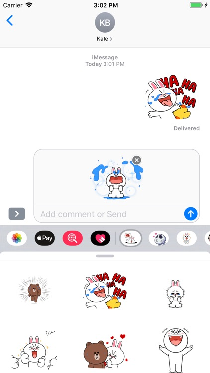 Bunny Crazy Sticker