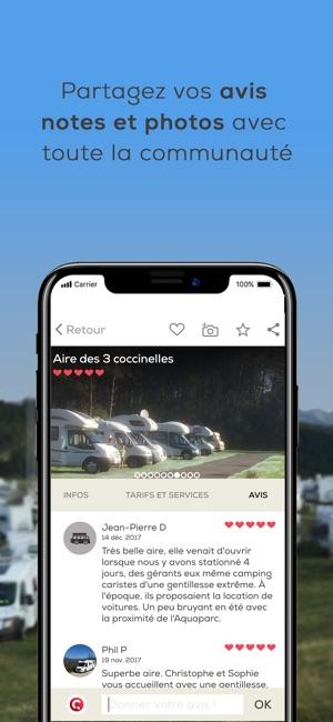 caramaps aire de camping car dans l app store. Black Bedroom Furniture Sets. Home Design Ideas