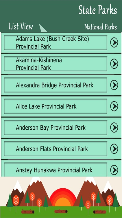 State Parks In Canada screenshot-1