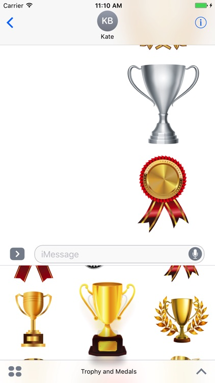 Trophy and Medals for iMessage screenshot-3