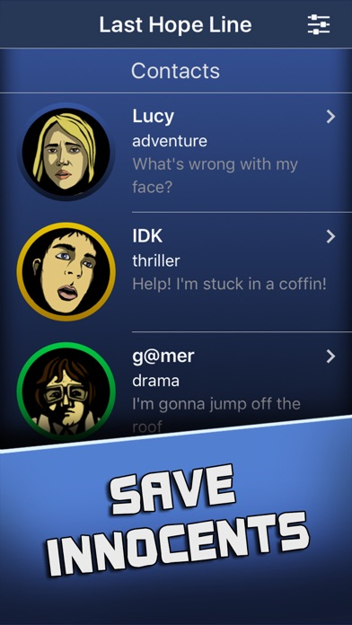 Last Hope Line: chat stories screenshot 3