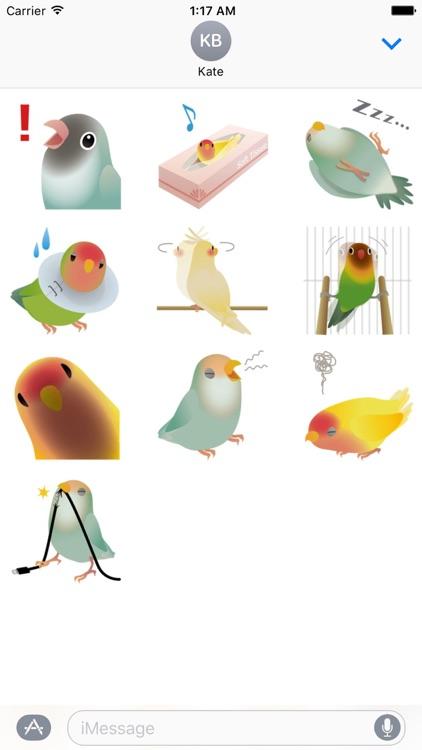 Cute Birds And Love Sticker