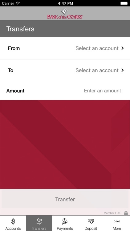 Bank of the Ozarks Mobile screenshot-4