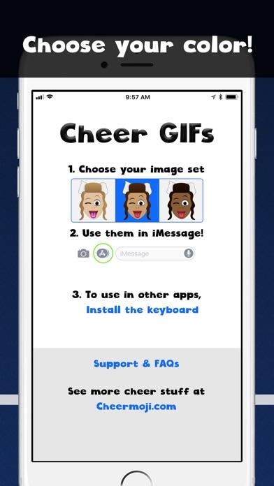 Cheer GIFs Cheerleading Emojis screenshot 2