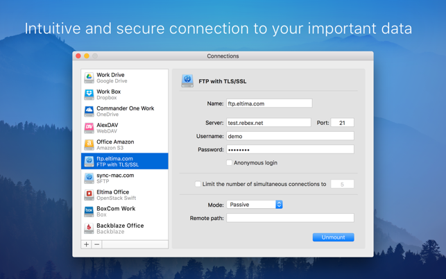 CloudMounter: cloud encryption Screenshot