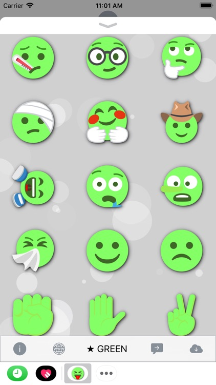 GREEN Emoji • Stickers screenshot-4