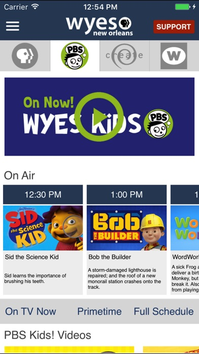 WYES-TV Screenshot