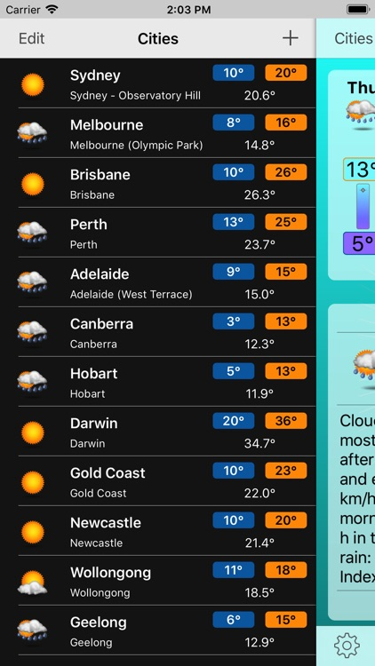 Oz Weather Plus screenshot-3