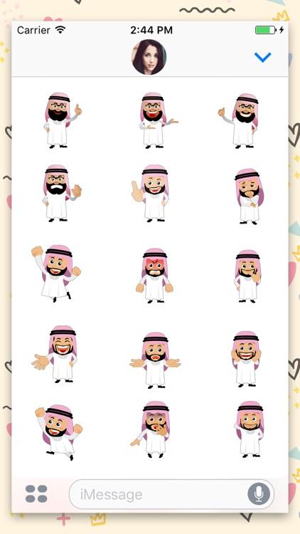 Arabic Avatar Animated Sticker