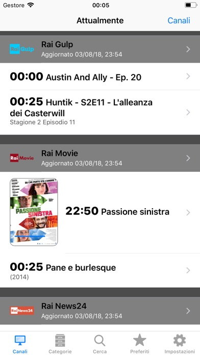 Italian Tv Schedule review screenshots