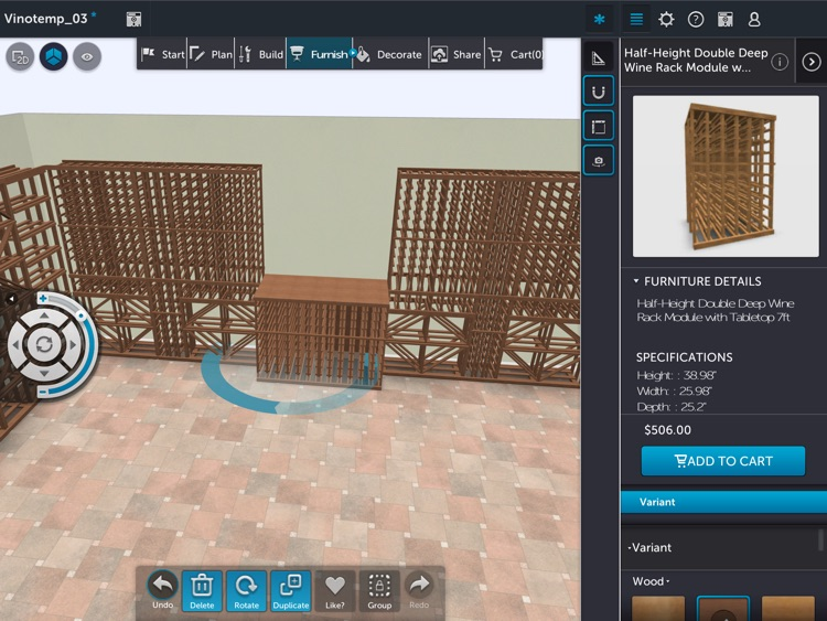3D Room Planner by Vinotemp screenshot-4
