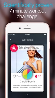Wonder 7 Minute Workout App iphone images