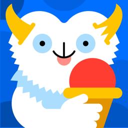 Ícone do app Sorvete Bubl - Uma sobremesa musical para crianças