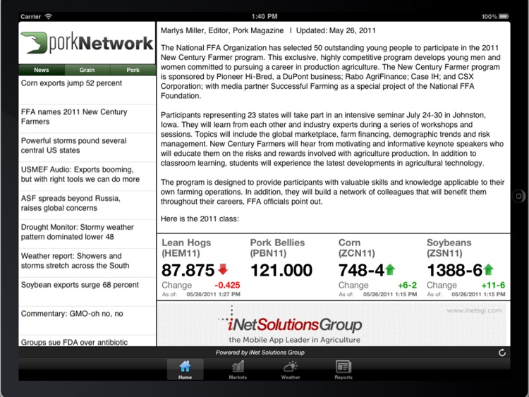 Pork Business Advisor for iPad screenshot-1