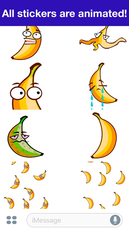 Banana Animated -Cute stickers screenshot-4