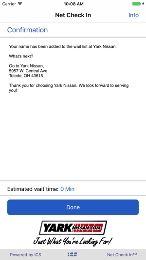 net check in yark nissan on the app store