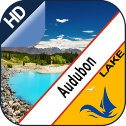 Lake Audubon offline nautical chart for boaters