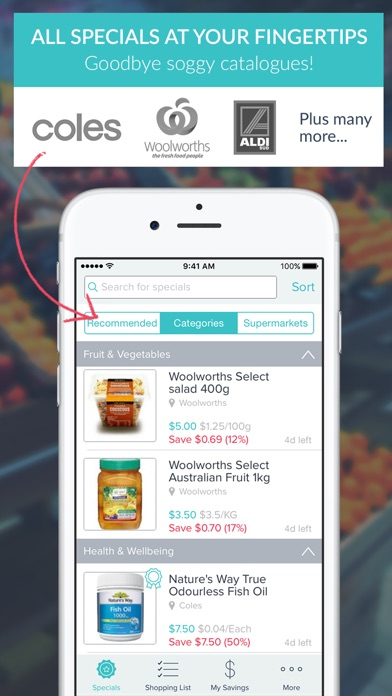 Trolley Saver - Shopping List screenshot one