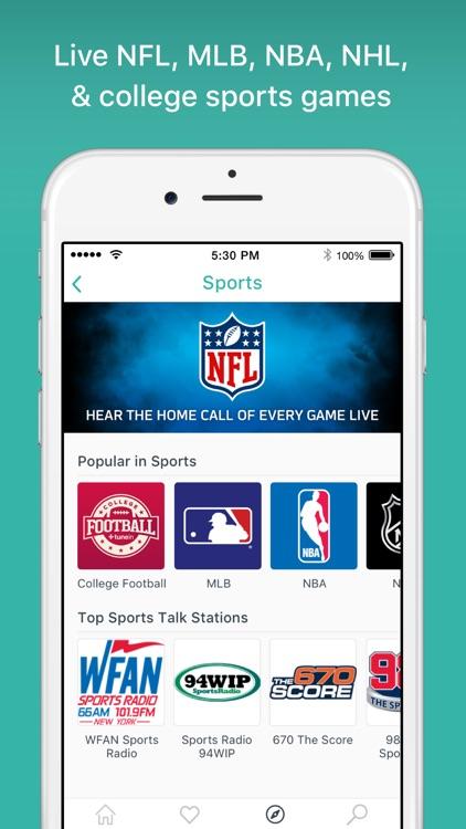 TuneIn - Stream Radio & NFL screenshot-0