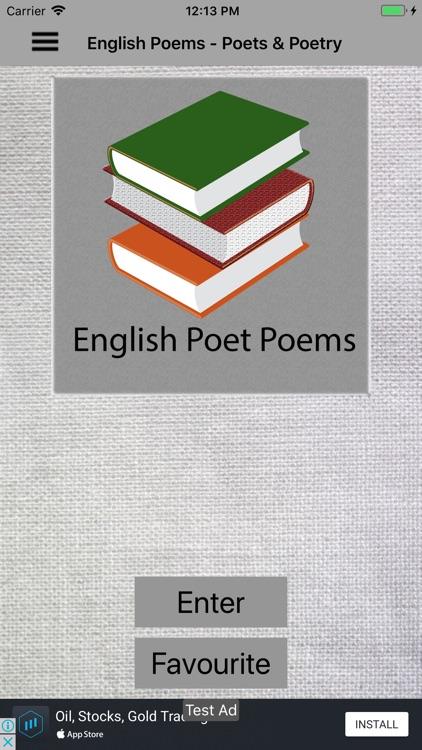 English Poems - Poets & Poetry