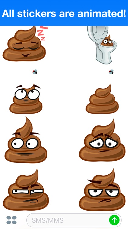 Poo Animated - Cute stickers screenshot-3