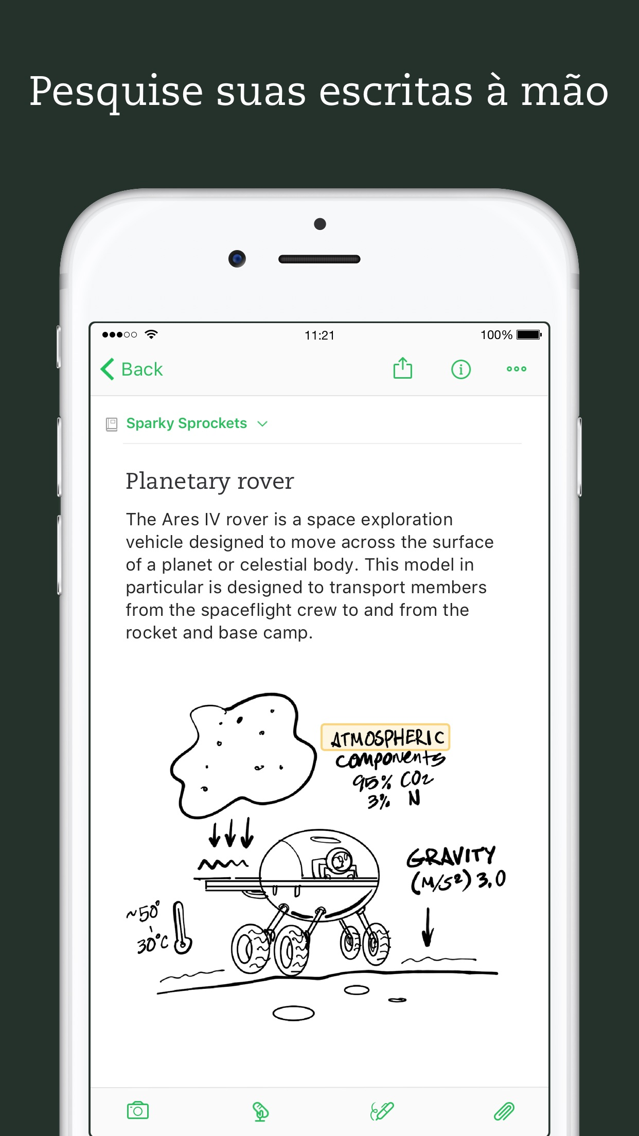 Screenshot do app Evernote