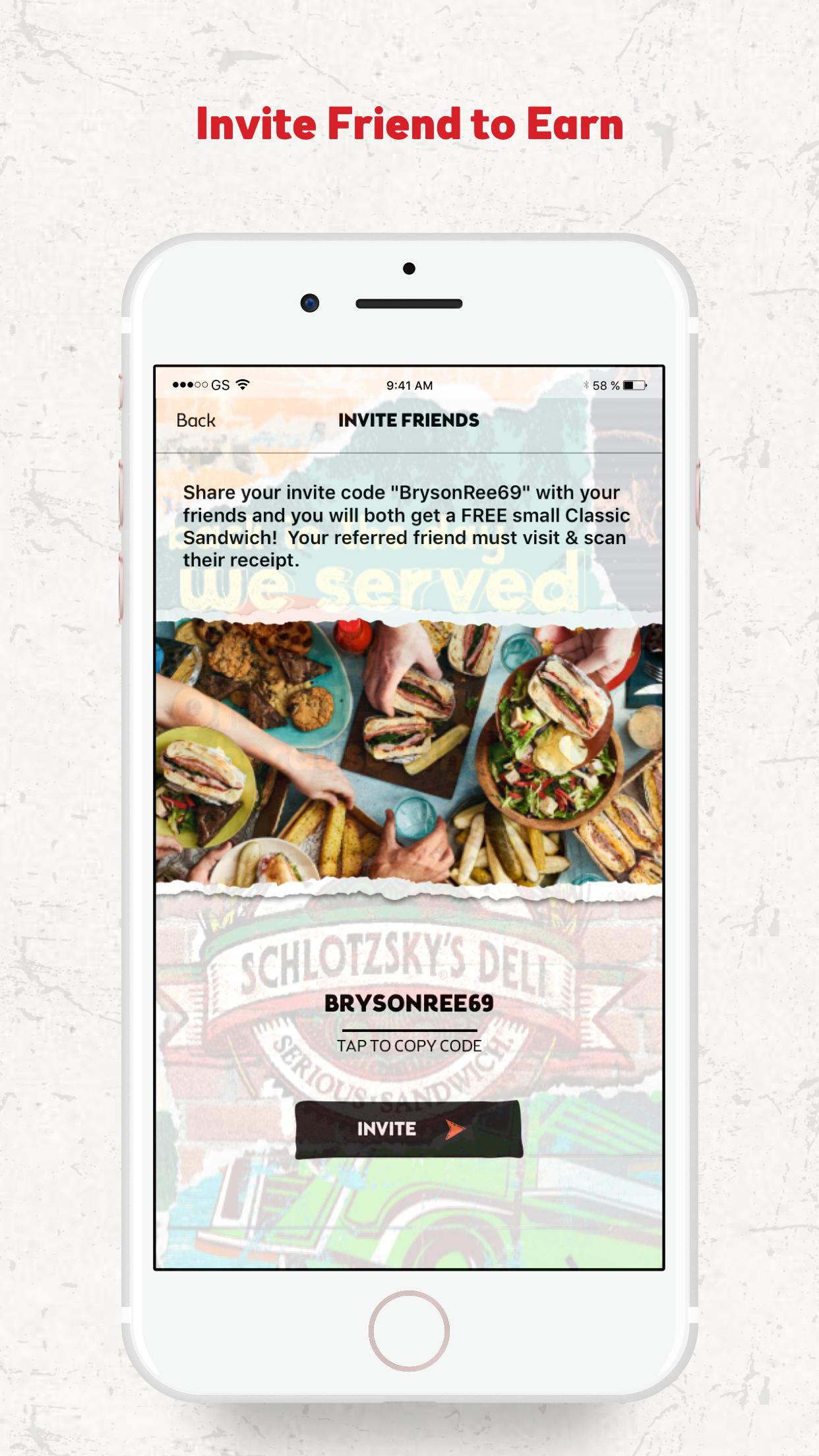 Schlotzsky's Rewards Program Screenshot