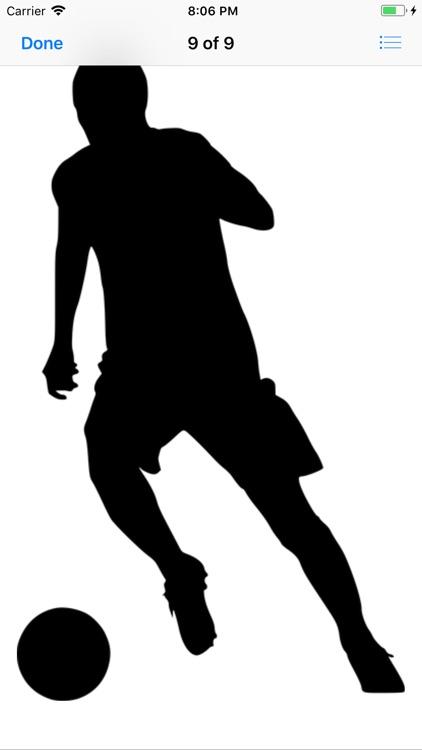 Silhouette Football Stickers screenshot-5