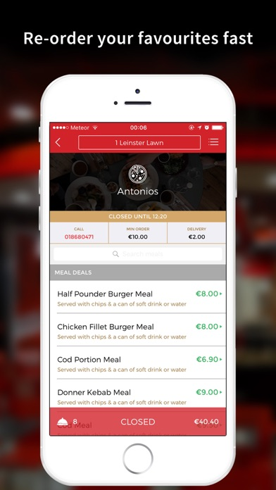 Antonio's Takeaway Dublin iOS Application Version 1 1 10175
