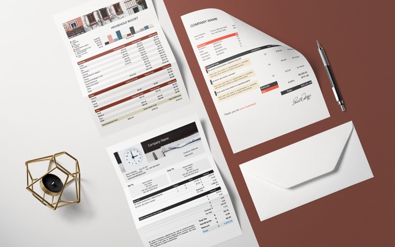 DesiGN for Numbers - Templates Screenshots
