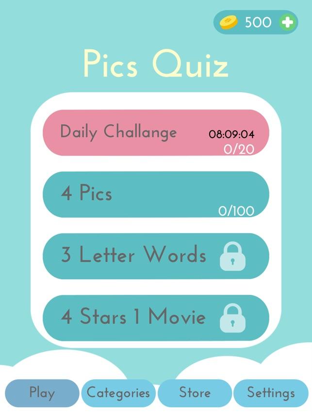 Pics Quiz On The App Store